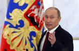 Vladimir Poutine s'adresse aux Etats-Unis