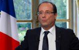 François Hollande fait une chute…