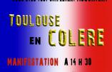 Ce 5 avril, à Toulouse, ce sera Jour de Colère !