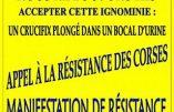 Les Corses manifesteront contre Piss Christ le 6 septembre
