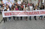 Chrétiens d'Orient : un millier de personnes manifestent à Malines contre les persécutions