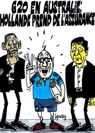 Ignace - Hollande prend de l'assurance au G20