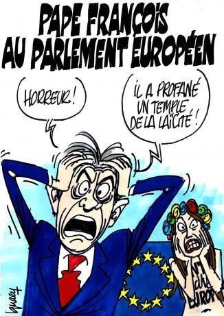 Ignace -Pape François au parlement européen