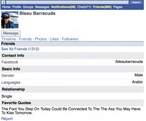 Sur son compte Facebook, Brinsley précise qu'il parle l'arabe