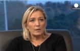 Interview de Marine Le Pen par Euronews: immigration, sortie de l'UE, Poutine, Crimée-Russie-Ukraine, «gentils nazis et méchants nazis», coalition contre l'EI, Bachar el Assad, fondamentalisme, etc.