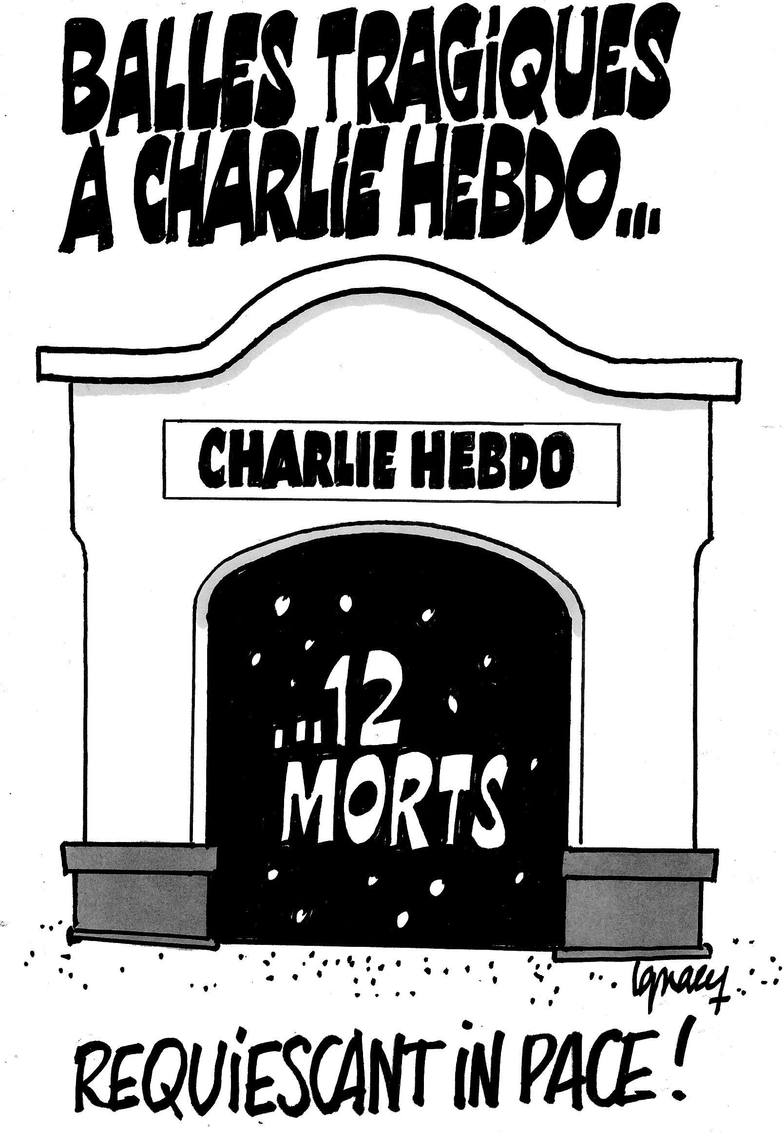 Ignace - Balles tragiques à Charlie Hebdo...