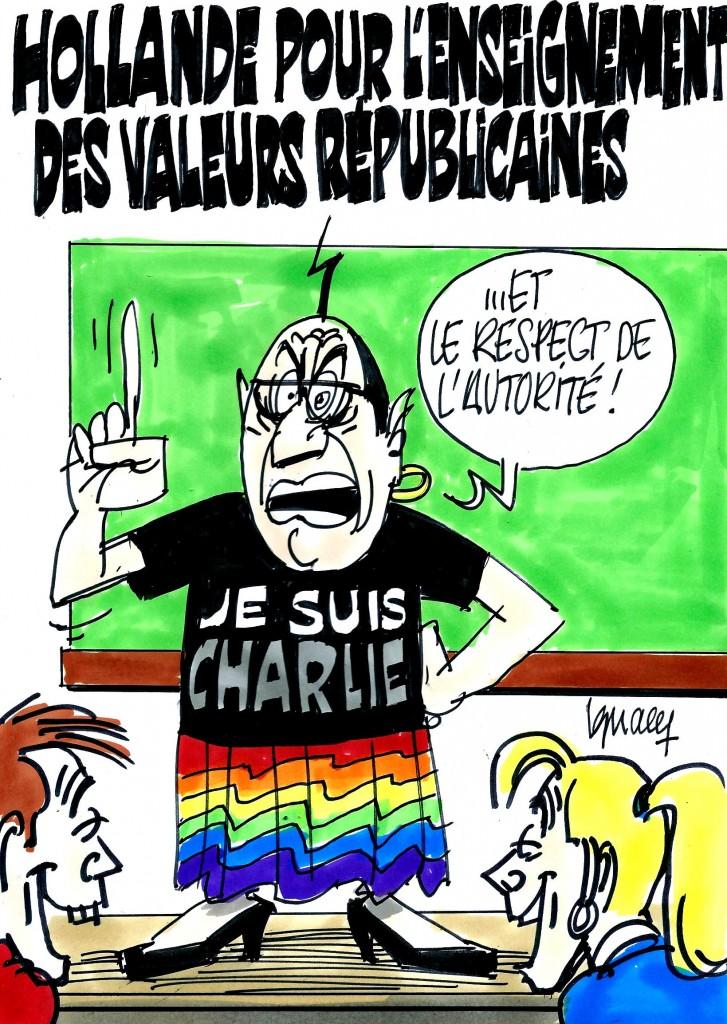 Ignace - Hollande et les valeurs républicaines
