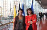 Joëlle Milquet et son amie et collègue Najat Vallaud-Belkacem