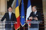 La diplomatie roumaine place un drapeau allemand sur une carte du territoire français