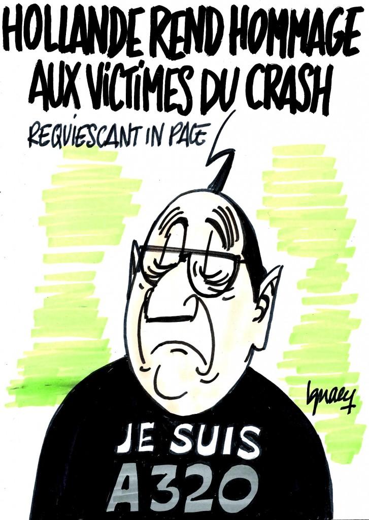 Ignace - Hollande rend hommage aux victimes du crash