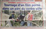 Tournage d'un film porno en pleine journée dans un parc de Compiègne