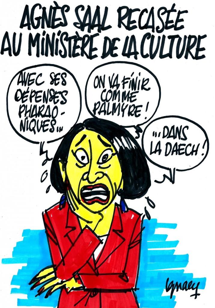 Ignace - Agnès Saal recasée à la Culture