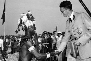 CONGO BELGE visite roi Baudouin
