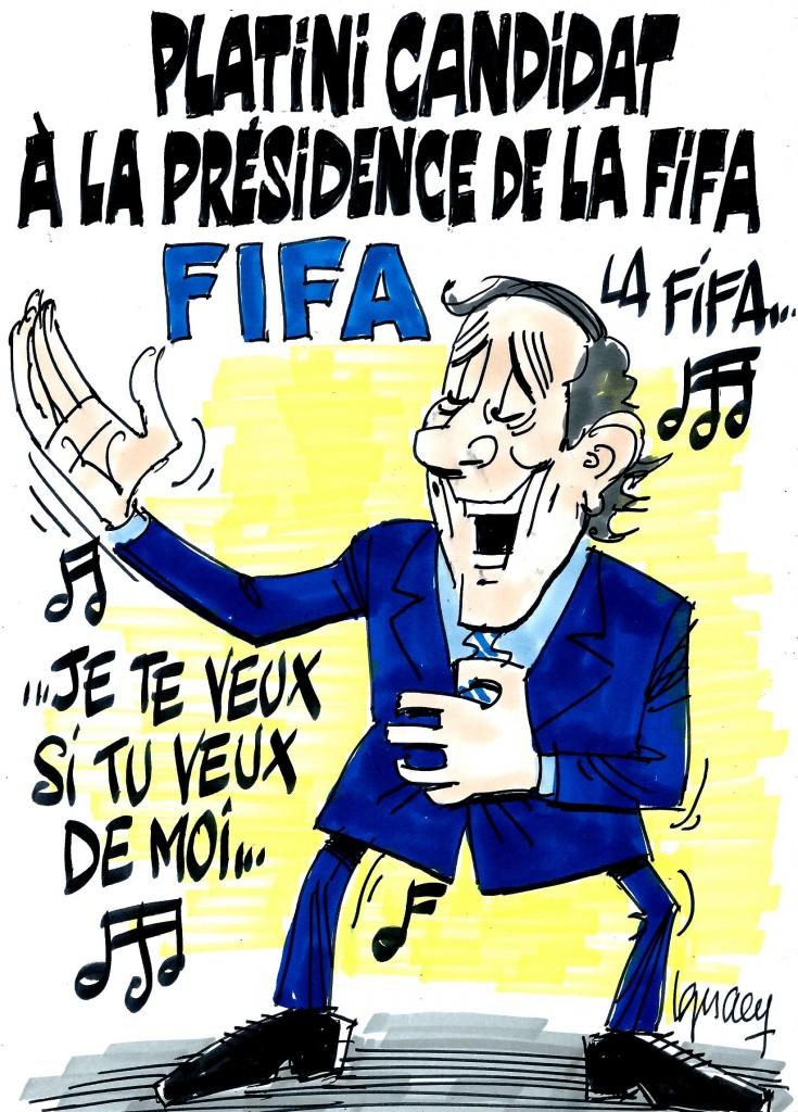 Ignace - Pltini candidat à la présidence de la FIFA