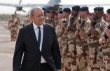 """This handout picture provided on September 23, 2013 by the French Army Communications Audiovisual office ECPAD and taken on September 22, 2013 in Gao shows French Defence Minister Jean-Yves Le Drian reviewing French troops of the French-led Operation Serval in Mali. Le Drian, visiting Mali to commemorate the 53rd anniversary of the Malian State, received a briefing in Gao on the French army operational situation and met Malian armed forces and officials of the UN stabilisation force to Mali (MINUSMA), and delivered a speech to the French troops before leaving to Bamako. AFP PHOTO / ECPAD / JEAN-FRANCOIS D'ARCANGUES HANDOUT - TO BE USED WITHIN 30 DAYS FROM September 23, 2013 - RESTRICTED TO EDITORIAL USE - MANDATORY CREDIT """"AFP PHOTO / ECPAD / JEAN-FRANCOIS D'ARCANGUES"""" - NO MARKETING NO ADVERTISING CAMPAIGNS - DISTRIBUTED AS A SERVICE TO CLIENTS"""