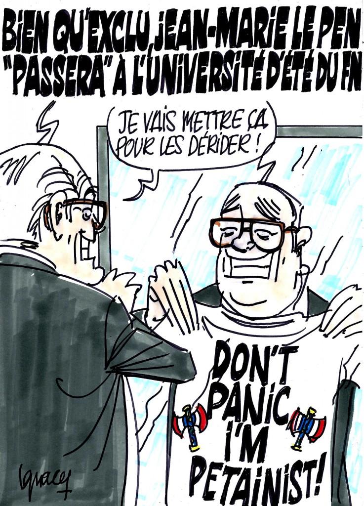 Ignace - Le Pen ira à l'université du FN