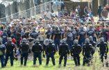 A Röszke, les immigrés tentent de s'échapper des camps de réfugiés et affrontent la police