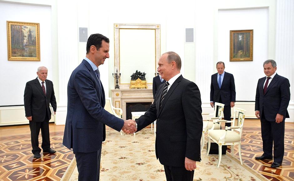 Poutine assad moscou