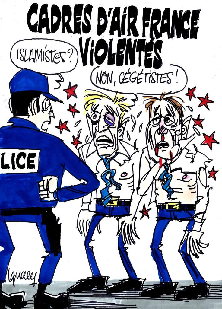 Ignace - Dirigeants d'Air France agressés