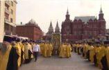 Immense procession religieuse dans les rues de Moscou (Vidéo)