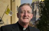 Rev. Bill Miscamble, C.S.C.  on the campus of the University of Notre Dame  Photo by Matt Cashore