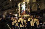 Procession de l'Immaculée Conception dans les rues de Paris