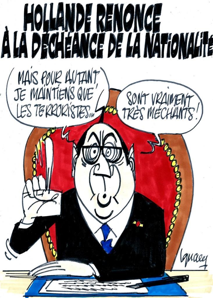 Ignace - Hollande renonce à la déchéance de nationalité