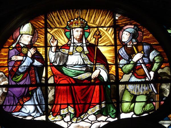 vitrail christ roi