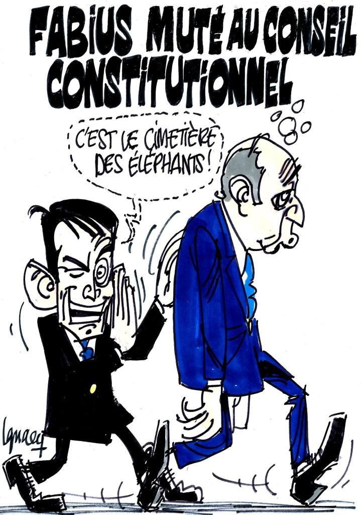 Ignace - Fabius muté au Conseil Constitutionnel