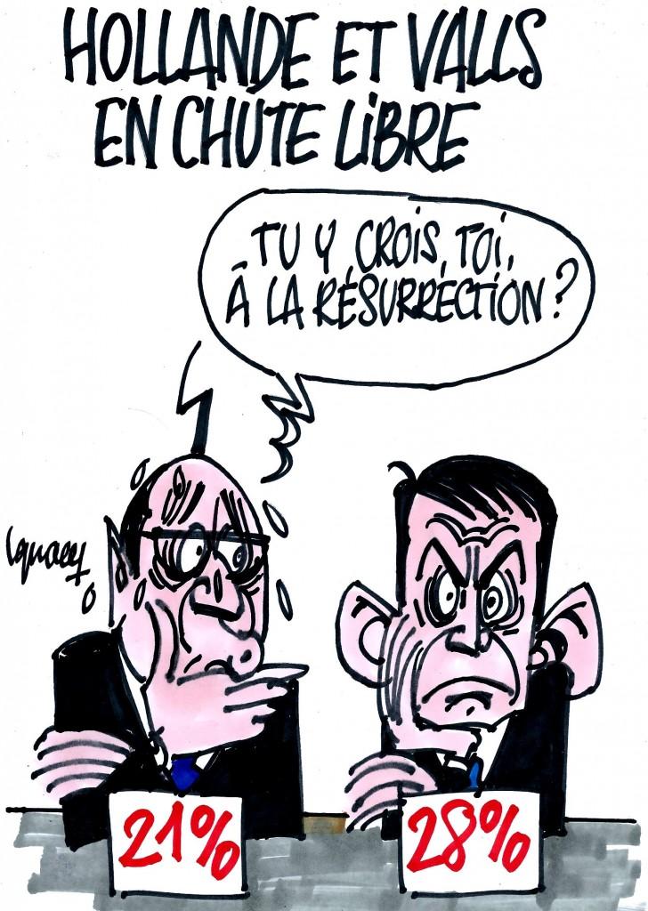 Ignace - Hollande et Valls au plus bas