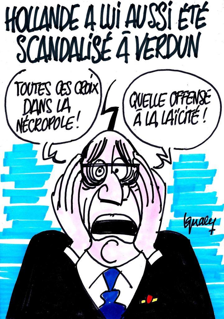Ignace - Hollande scandalisé à Verdun