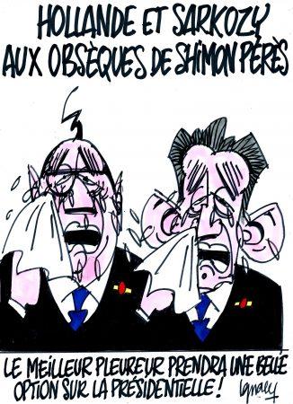 Ignace - Hollande et Sarkozy aux obsèques de Shimon Pérès