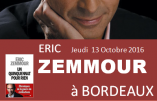 Eric Zemmour à Bordeaux le 13 octobre 2016