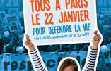 22 janvier 2017 à Paris : Marche pour la Vie