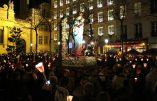 8 décembre 2016 : l'abbé de La Rocque demande à la Ste Vierge de donner à notre jeunesse la force de vivement contester toute loi humaine qui serait contraire à la loi du Créateur