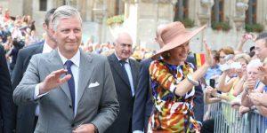le Roi Philippe et la Reine Mathilde à Louvain