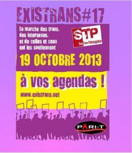 affiche de la marche Existrans du 19 octobre