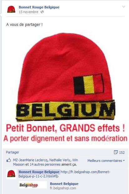 bonnets rouges belgique