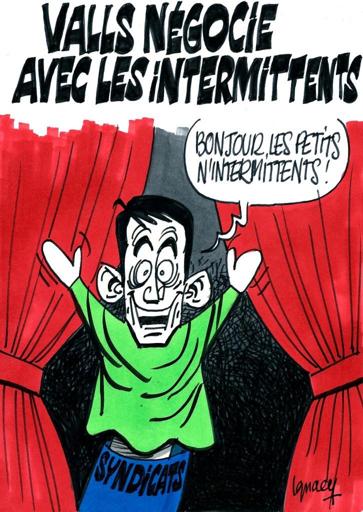 Ignace - Valls et les intermittents