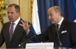 Sergeï Lavrov et Laurents Fabius, lors de la réunion du Conseil de Coopération franco-russes sur les questions de sécurité en Syrie