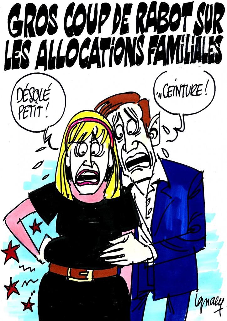 Ignace - Coup de rabot sur les allocations familiales