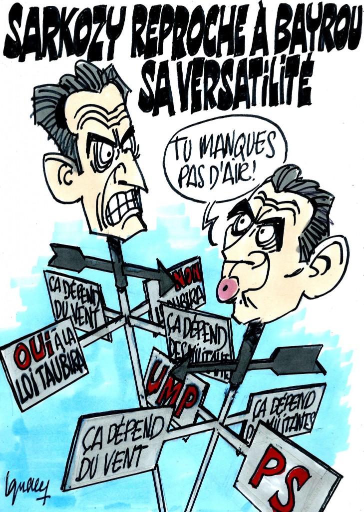 Ignace - Sarkozy reproche à Bayrou sa versatilité
