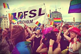 Manifestation du RFSL, le lobby LGBT dont le pédophile Stefan Johansson avait été un dirigeant.