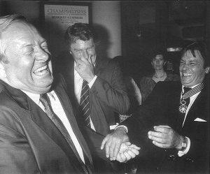 Jean-Marie Le Pen et Alain Delon