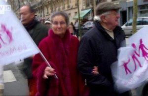 Simone Veil à la Manif pour Tous contre la loi Taubira