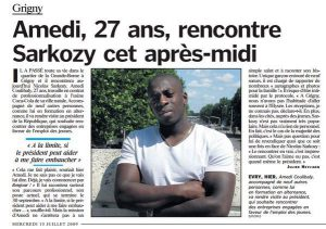 MPI - 28 - 03 - Amedy Coulibaly - dans le figaro - 15 juillet 2009 -