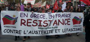 Quand Syrisa manifeste en France...