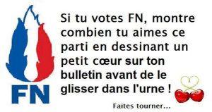 L'un des tweets cherchant à tromper les électeurs du FN