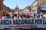 Rome : immense succès de la Marche pour la Vie