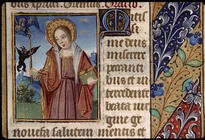 sainte-genevieve-tenant-un-livre-et-un-cierge-avec-ange-et-demon